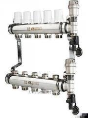 Коллекторный блок из нержавеющей стали с термостатическими клапанами VTc.588.EMNX