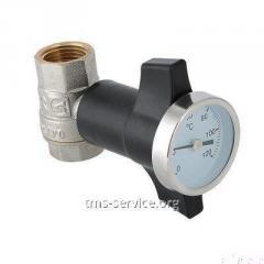Кран шаровой c термометром VT.808.N