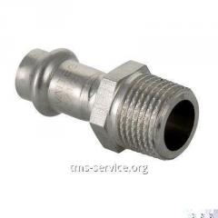 Press fitting from stainless steel with an