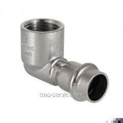 Фитинг из нержавеющей стали – пресс-угольник с внутренней резьбой VTi.952.I