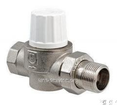 The valve thermostatic the raised straight line