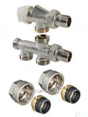 Knot set, thermostatic for the lower connection of