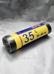 Мусорные пакеты 500х600 мм 12 мкм 35л (крепкие)