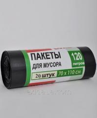 Мусорные пакеты 700х1100 мм 25 мкм 120л (крепкие)