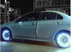 Illumination of wheels of the car