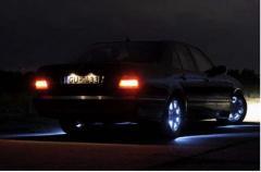 Illumination of wheels of the car