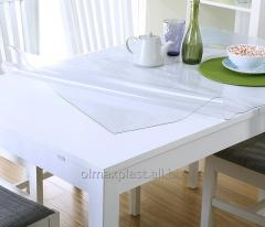 Transparent covering for protection of a glass,