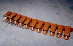 Tracks of caterpillars for coal-mining equipment