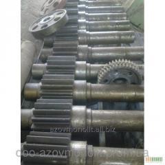 Shaft gear wheel for an electrocardiogram