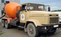 Avtobetonosmesitel of KRAZ-250, 6 cbm.