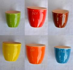 Glazes ceramic for pottery from porcelain,