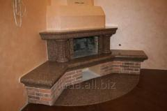 Fireplace from granite