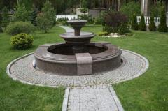 Products from granite - the fountain