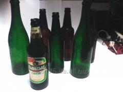 Fake glass, bottles from sugar glass, a telescopic