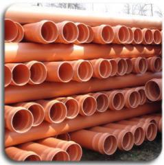 Трубы ПВХ канализационные безнапорные.