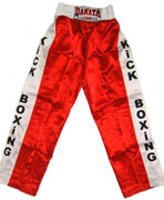 Trousers for a kickboxing.