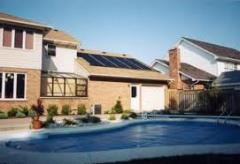 Systems of solar heating of pools