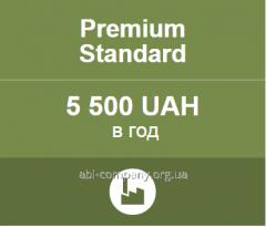 The website on Allbiz with PREMIUM STANDART