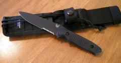 Нож Benchmade Nimravus, Black Aluminum Handle,