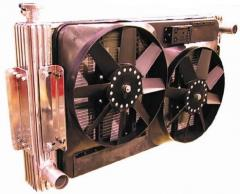Radiator of cooling of the engine with the