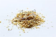 Dried onion (powder, slices, pellets). Opt.