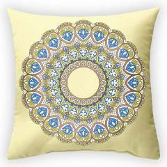 Design throw pillow Solar circle, art.