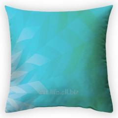 Design throw pillow Sea patch of light, art.