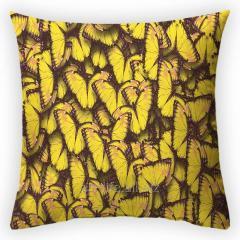 Design throw pillow Summer butterflies, art.