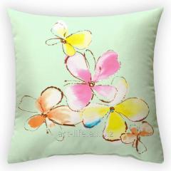 Design throw pillow Paradise flower, art.
