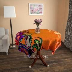 Design cloth from gabardine Flowers in the desert,