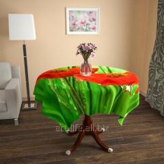 Design cloth from gabardine Poppies, an art.