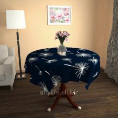 Design cloth from gabardine the Night dandelion,