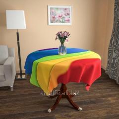 Design cloth from gabardine the Rainbow, an art.