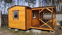Каркасный деревяный дачный дом
