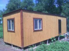 деревяный дачный вагоньчик 3-9