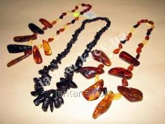 Beads from natural Code-04 amber