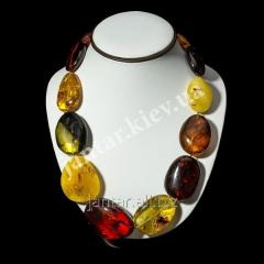 Large beads from Code-05 amber