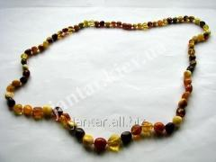 The polished beads from Code-150 amber