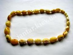 The polished beads from Code-151 amber