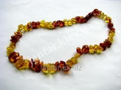 The polished beads from Code-152 amber