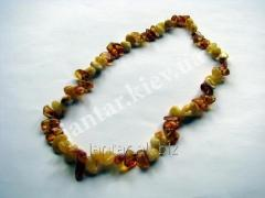 The polished beads from Code-153 amber