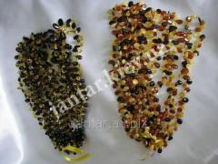 The polished beads from Code-155 amber