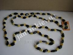 The polished beads from Code-159 amber