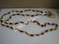 The polished beads from Code-160 amber