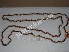 The polished beads from Code-161 amber
