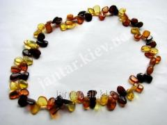 The polished beads from Code-162 amber