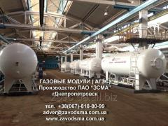 Gas filling module production