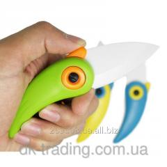 Нож керамический Parrot green