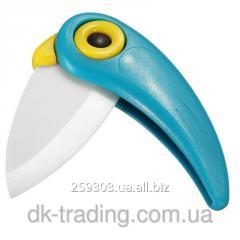 Knife ceramic Parrot blue