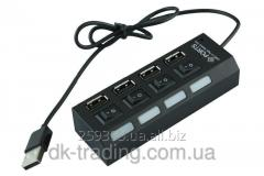 Usb hub of 4 Led black